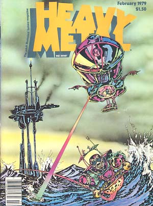 Heavy Metal Magazine February 1979 Vol. II No. 10. Sean Kelly, Valerie Marchant, eds