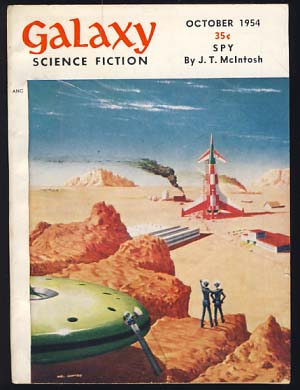 Galaxy Science Fiction October 1954 Vol. 9 No. 1. H. L. Gold, ed