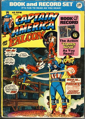 Captain America and the Falcon (Comic and 45 RPM Record). Authors