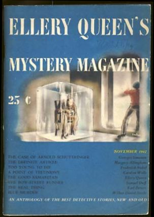 Ellery Queen's Mystery Magazine November 1942 Vol. 3 No. 5. Ellery Queen, ed