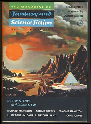 The Magazine of Fantasy and Science Fiction November 1954. Anthony Boucher, ed.