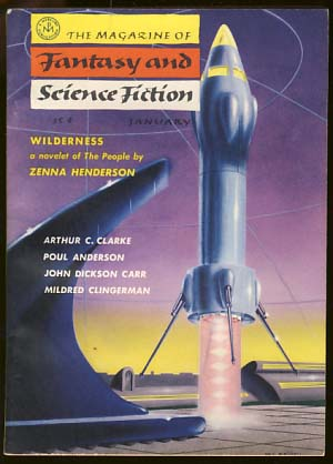 The Magazine of Fantasy and Science Fiction January 1957 Vol. 12 No. 1. Anthony Boucher, ed