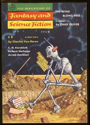 The Magazine of Fantasy and Science Fiction July 1957. Anthony Boucher, ed