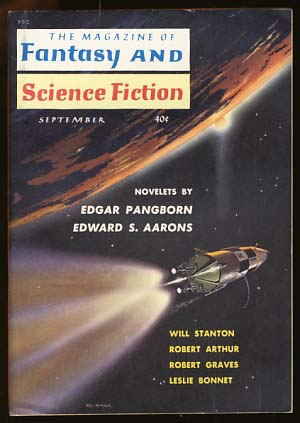 The Magazine of Fantasy and Science Fiction September 1959 Vol. 17 No. 3. Robert P. Mills, ed