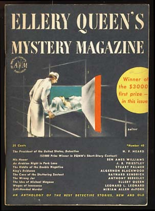 Ellery Queen's Mystery Magazine March 1947 Vol. 9 No. 40. Ellery Queen, ed