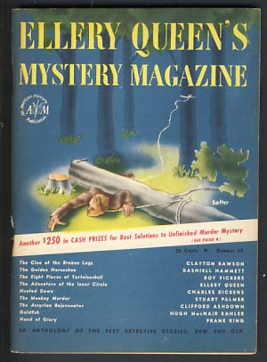 The Golden Horseshoe in Ellery Queen's Mystery Magazine January 1947 Vol. 9 No. 38. Dashiell Hammett