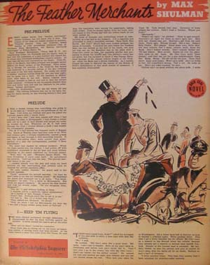 The Feather Merchants in The Philadelphia Inquirer Gold Seal Novel Sunday, August 13, 1944. Max...