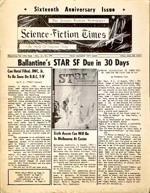 Fantasy-Times / Science-Fiction Times Forty-eight Issue Run 1953-1957. James V. Taurasi, Sr., Ray Van Houten, Frank Prieto, eds.