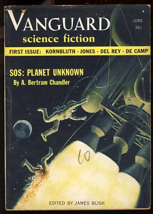 Vanguard Science Fiction June 1958 Vol. 1 No. 1. James Blish, ed