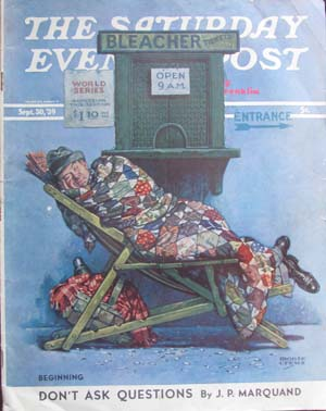 Double for Death Part Seven in The Saturday Evening Post September 30, 1939. Rex Stout