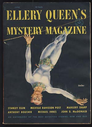 Ellery Queen's Mystery Magazine June 1953. Ellery Queen, ed