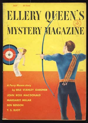 Ellery Queen's Mystery Magazine July 1954. Ellery Queen, ed
