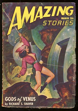 Amazing Stories March 1948. Raymond Palmer, ed.
