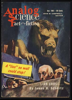 Analog Science Fact & Fiction October 1961. John W. Campbell, ed, Jr