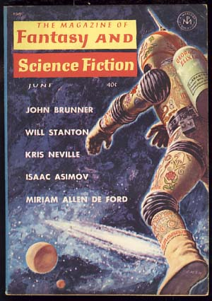 The Magazine of Fantasy and Science Fiction June 1962. Edward L. Ferman, ed