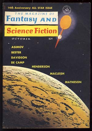 The Magazine of Fantasy and Science Fiction October 1963. Edward L. Ferman, ed.