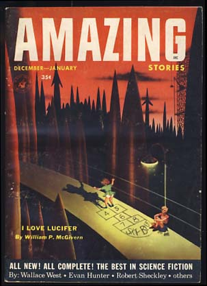 Amazing Stories December-January 1953. Howard Browne, ed