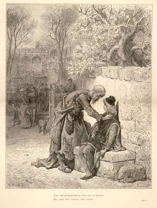 """The Wedding-Guest sat on a stone: he can not chuse but hear."" - A plate from The Rime of the..."