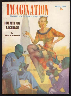 Imagination April 1955. William E. Hamling, ed.