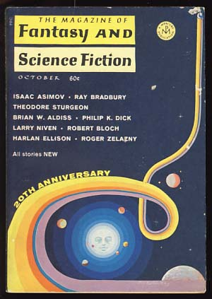 The Magazine of Fantasy and Science Fiction October 1969. Edward L. Ferman, ed.