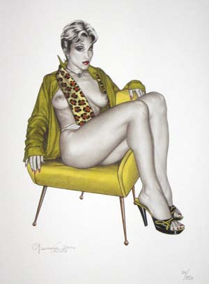 Pin-ups #11 - Limited and numbered edition print. Giovanna Casotto.