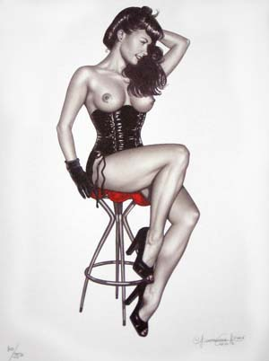 Pin-ups #2 - Limited and numbered edition print. Giovanna Casotto.