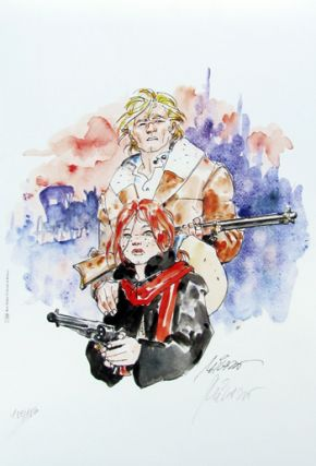 Ken Parker and Pat O'Shane Signed and Numbered Limited Edition Print by Ivo Milazzo. Ivo Milazzo