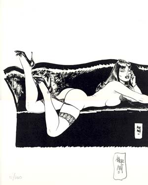 Pin-Up #6 from the Portfolio Chiara, Chica e le altre - Signed and Numbered Limited Edition Print. Jordi Bernet.