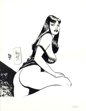 Pin-Up #9 from the Portfolio Chiara, Chica e le altre - Signed and Numbered Limited Edition Print. Jordi Bernet.