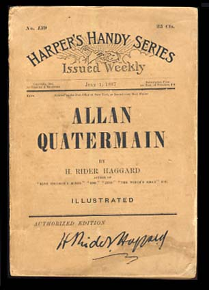Allan Quatermain: Being an Account of His Further Adventures and Discoveries in Company with Sir Henry Curtis, Bart., Commander John Good, R.N. and One Umslopogaas.