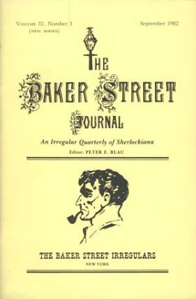 The Baker Street Journal September 1982. Peter F. Blau, ed.