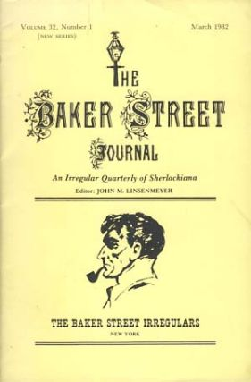 The Baker Street Journal March 1982. John M. Linsenmeyer, ed.