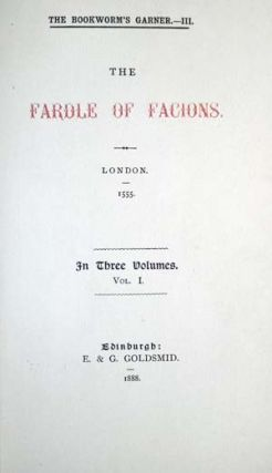 The Fardle of Facions. Joannes Boemus.