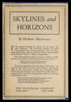 Skylines and Horizons. DuBose Heyward.