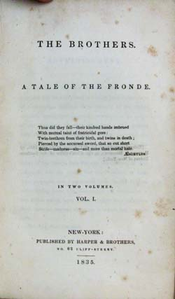 The Brothers. A Tale of the Fronde.