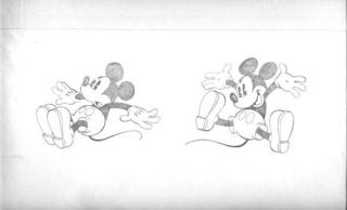 Mike Royer Mickey Mouse Jumping Original Art. Mike Royer
