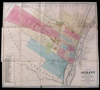 Map of the City of Albany, New York. From Official Records Furnished by Reuben H. Bingham, City Surveyor. Reuben H. Bingham.