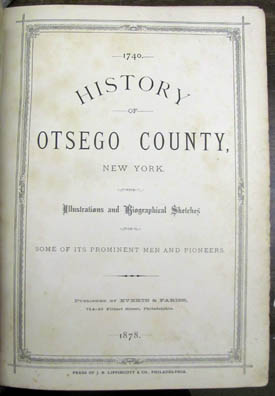 History of Otsego County, New York. With Illustrations and Biographical Sketches of Some of Its...