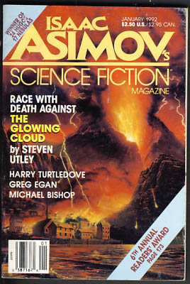 Isaac Asimov's Science Fiction Magazine January 1992. Gardner Dozois, ed