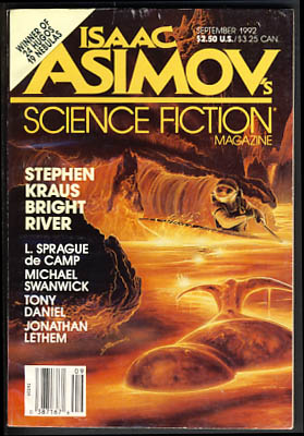 Isaac Asimov's Science Fiction Magazine September 1992. Sheila Williams, ed