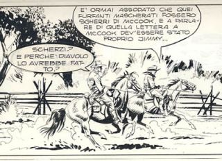 Raffaele Della Monica Tex #350 Page 107 Original Comic Art.