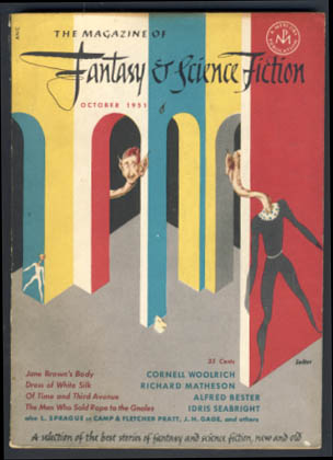 The Magazine of Fantasy and Science Fiction October 1951. Robert P. Mills, ed
