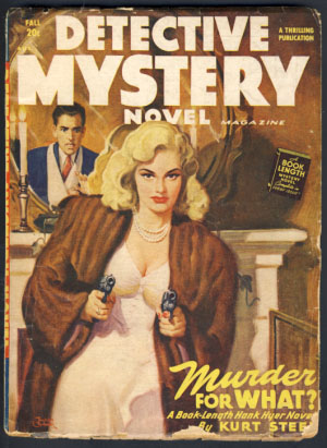 Detective Mystery Novel Magazine Fall 1948. Leo Margulies, ed.