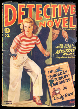 Detective Novel Magazine October 1944. Harvey Burns, ed.