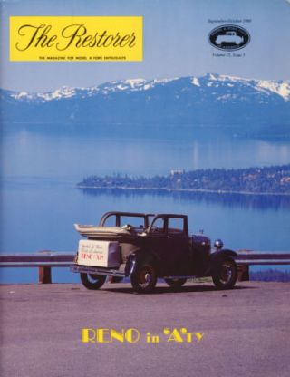 The Restorer (Model A Ford Club of America) 1980 Full Run. Phil. ed Allin.