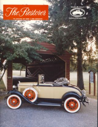 The Restorer (Model A Ford Club of America) 1985 Full Run. Phil. ed Allin.
