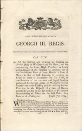 Anno Quinquagesimo Quarto. Georgii III. Regis. Cap. CLXI. An Act for settling and securing an...