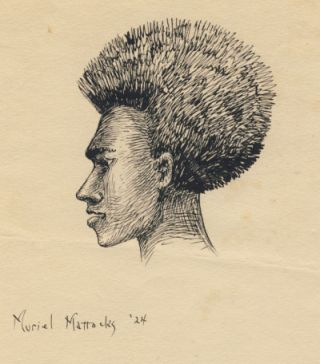 Original Drawing of a Native of the Fiji Islands.