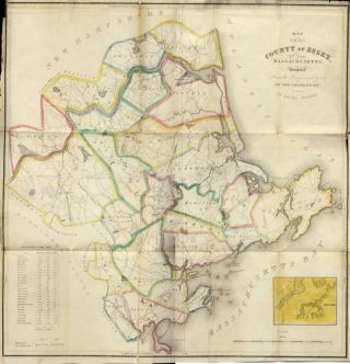 Map of the County of Essex, Massachusetts. Compiled from the Surveys Made by Order of the Legislature in 1831-1832.