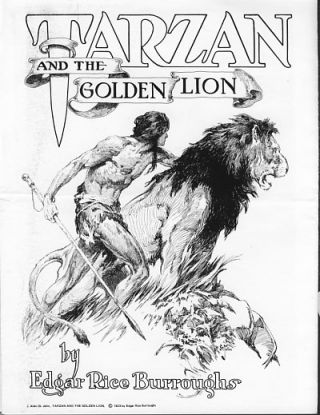 The Edgar Rice Burroughs Library of Illustration Promotional Flyer. Russ Cochran, ed
